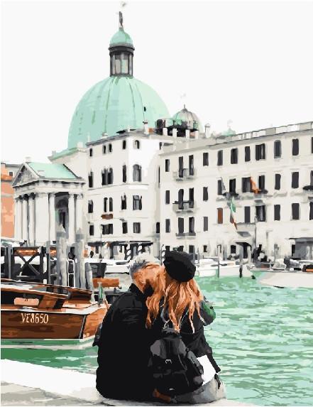 Картина по номерам GX 23774 Венеция с Таней