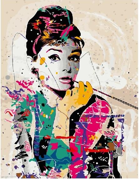 Картина по номерам GX 4598 Одри Хепберн