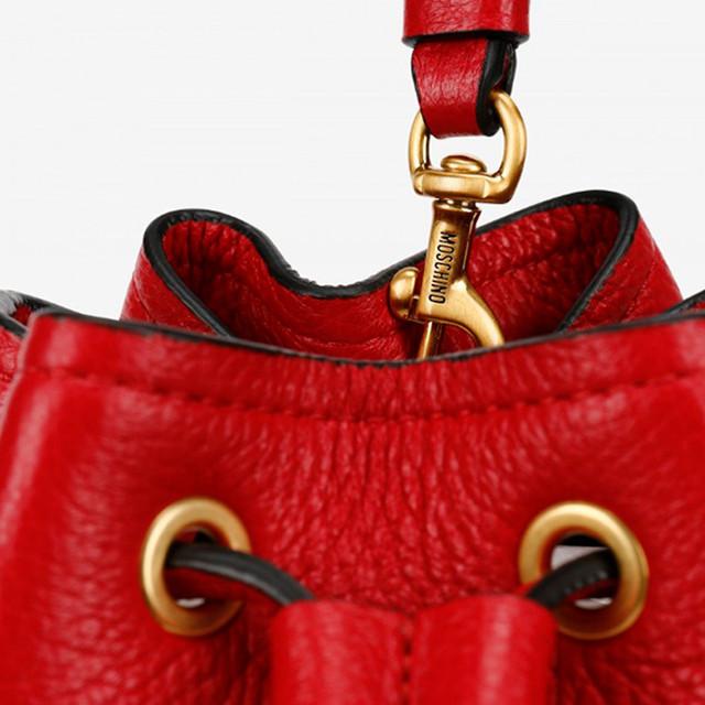 Женская сумочка-ведро Moschino Bucket Bag With Lettering Logo
