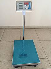 Ваги торгові електронні (до 100 кг) з платформою і лічильником ціни на трубі (на стійці) DJV /83