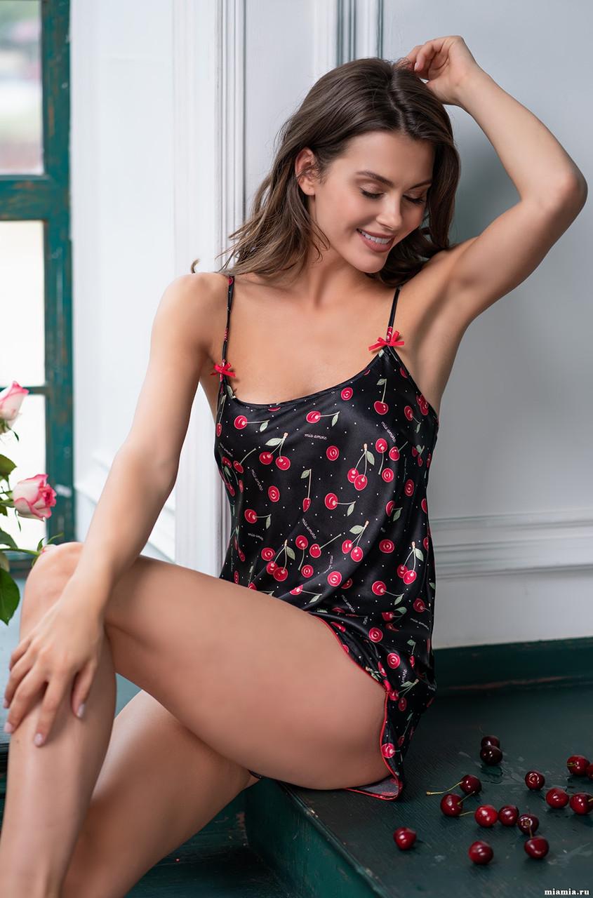 Женская пижама с вишнями  Италия. Mia Mia CHERRY 8682