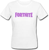 """Женская футболка Fortnite Battle Royale """"Pink Logo"""" (белая)"""