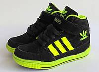 Кроссовки  Adidas унисекс лайм неон