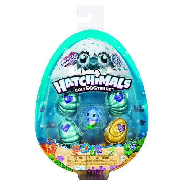 Hatchimals S5 Набор 4 коллекционные фигурки в яйцах и бонусная фигурка Mermal Magic CollEGGtibles 4-Pack+Bonus