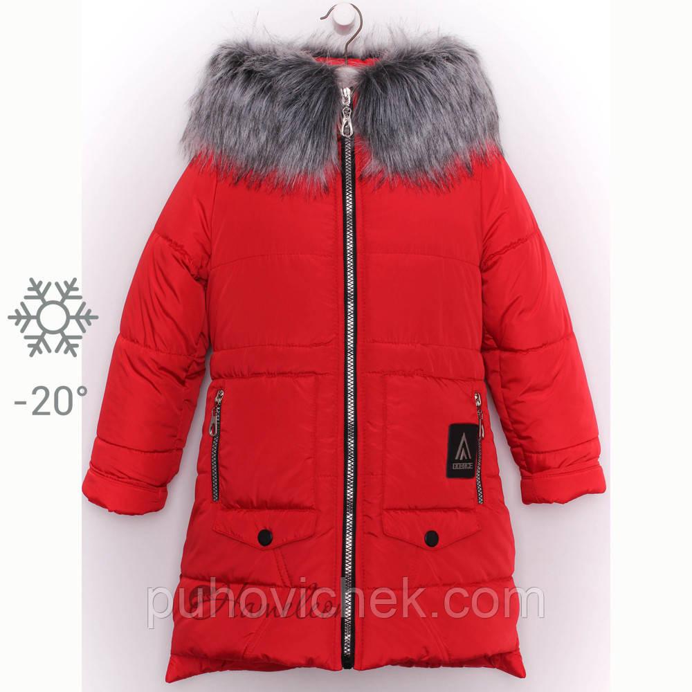 Детское зимнее пальто для девочки на меху