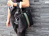 Сумка деловая, портфель от Гуччи, кожаная реплика, фото 3