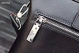 Сумка деловая, портфель от Гуччи, кожаная реплика, фото 2