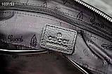 Сумка деловая, портфель от Гуччи, кожаная реплика, фото 4