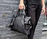 Сумка деловая, портфель от Гуччи, кожаная реплика, фото 7
