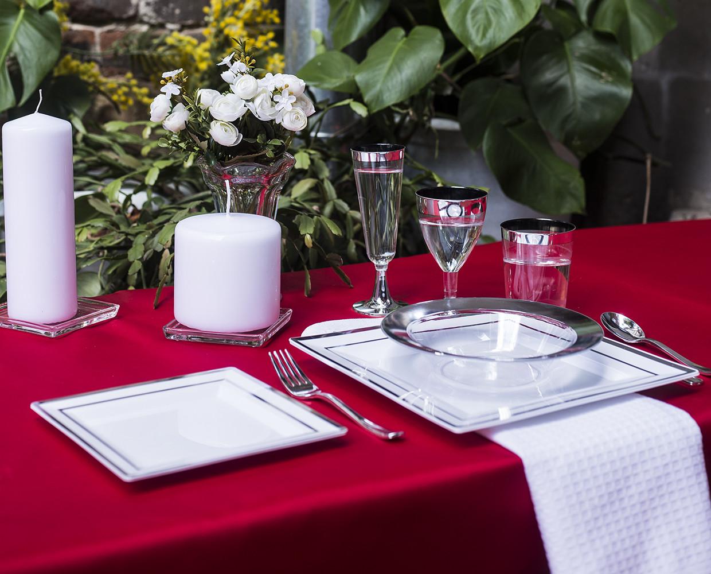 Миска стеклоподобная прозрачная с серебром оптом  для ресторанов, кейтеринга, horeca CFP 6 шт 300 мм