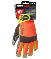 Рабочие перчатки повышенной видимости с сенсорными пальцами, X-Large