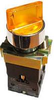 Кнопка  PB2-BK2565  2-х позиционный переключатель с LED подсветкой жёлтый Ø22mm  NO + NC