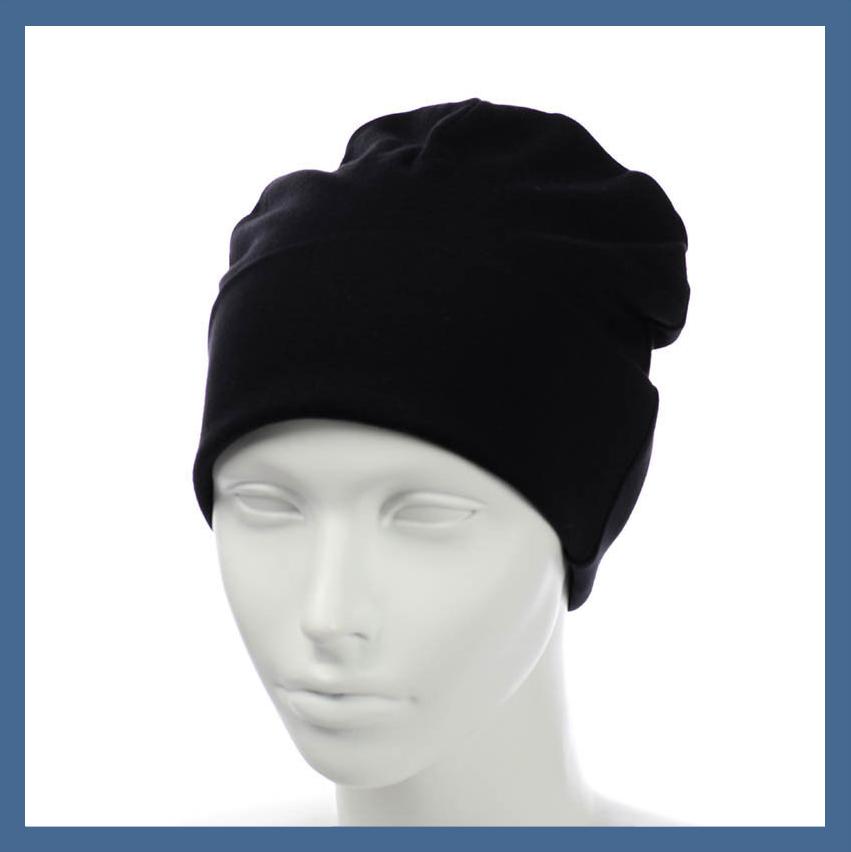 Трикотажная шапка- пустышка из вискозы