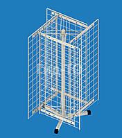 Стойка настольная вращающаяся 4 сетки (700х350) со смещением