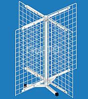 Стойка настольная вращающаяся 4 сетки (700х350) 4-х лучевая