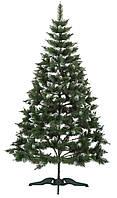 """Ель искусственная """"Різдвяна"""" h=150 см. Зеленая с белыми кончиками"""