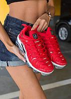 Женские кроссовки Nike Air VaporMax Plus Red White \ Найк Вапормакс \ Жіночі кросівки Найк Вапормакс