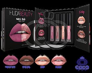Набор жидких матовых помад Huda Beauty Matte & Strobe Minis Lip Set Warm Pinks (Trophy Wife)