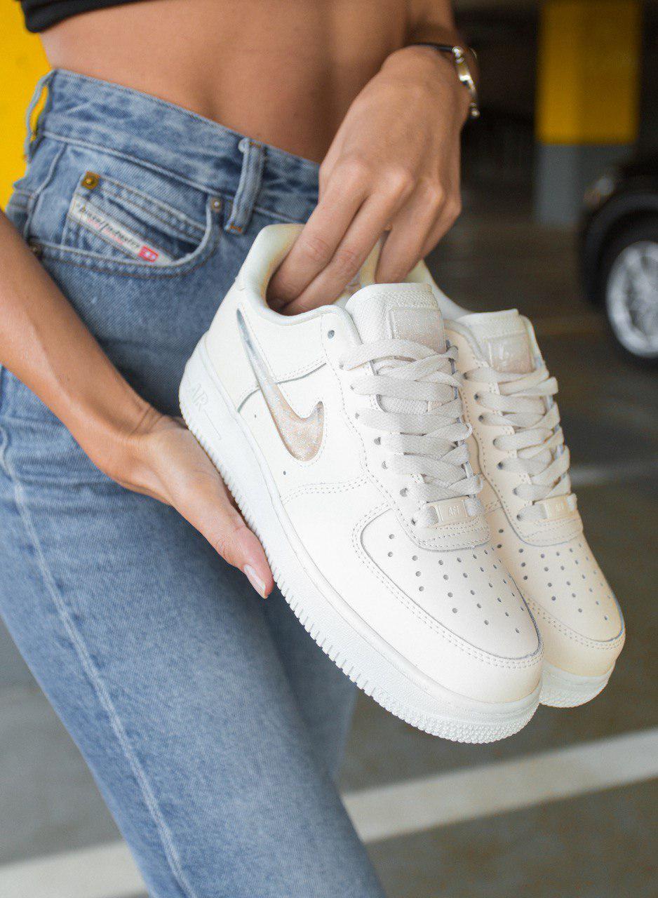 Женские кроссовки Nike Air Force 1 Low Jewel  White \ Найк Аир Форс 1 \ Жіночі кросівки Найк Аір Форс 1 Білі