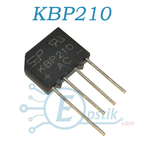 KBP210, диодный мост 1000В, 2А