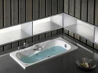 ROCA  Ванна PRINCESS 1600х750 мм, встроенные подлокотники, металические ручки, глубина 430 A220370001
