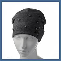 Молодежная  шапка с Жемчугом и Звездой, фото 1