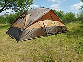 Палатка туристическая четырехместная, двухкомнатная Green Camp 1100