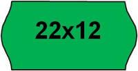 Этикет-лента (ценники) 22х12, фигурная, цветная