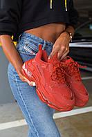 Кроссовки Balenciaga Triple S Red \ Баленсиага Трипл С Красные \ Кросівки Баленсіага Тріпл Ес Червоні