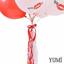 Воздушные шары для любимой девушки на 14 февраля с поцелуями и словами любви, фото 2