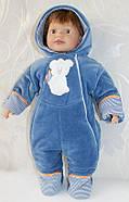 Теплый комбинезон для новорожденных Тедди  LUX, фото 2
