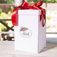 Подарочная коробка для розы в колбе Lerosh - 27 см,  Белый