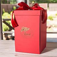 Подарочная коробка для розы в колбе Lerosh - 27 см,  Красный