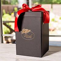 Подарочная коробка для розы в колбе Lerosh - 27 см,  Черный