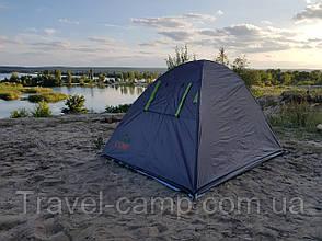 Двухместная туристическая палатка Green Camp  с тамбуром., фото 3
