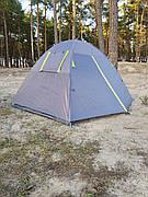 Двухместная туристическая палатка Green Camp  с тамбуром.