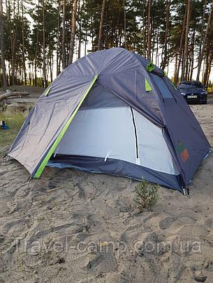 Двухместная туристическая палатка Green Camp  с тамбуром., фото 2