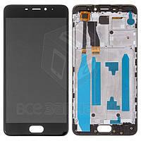 Meizu M5 Note Дисплейный модуль для мобильного телефона,черный,с рамкой