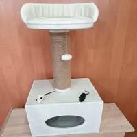 Когтеточка одинарная сдомиком, фото 1