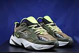 Стильные кожаные кроссовки Nike на массивной подошве унисекс, фото 2