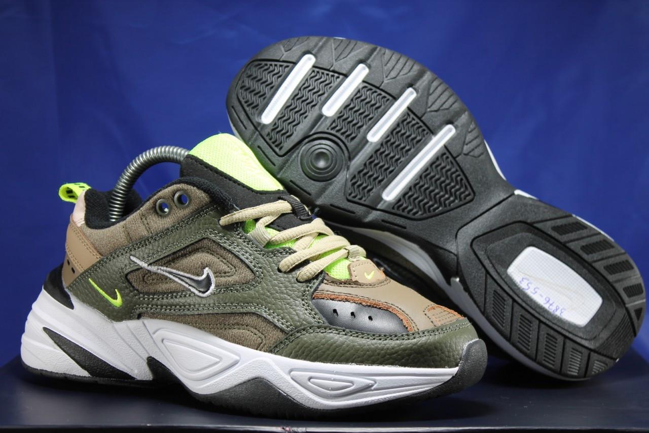 Стильные кожаные кроссовки Nike на массивной подошве унисекс