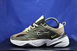 Стильные кожаные кроссовки Nike на массивной подошве унисекс, фото 4
