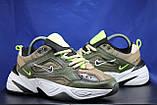 Стильные кожаные кроссовки Nike на массивной подошве унисекс, фото 5