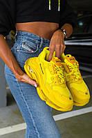 Кроссовки Balenciaga Triple S Yellow \ Баленсиага Трипл С Желтые \ Кросівки Баленсіага Тріпл С Жовті