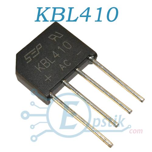KBL410, диодный мост, 1000В 4А