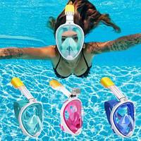 Дайвинг Маска Полнолицевая для подводного плавания и снорклинга/все цвета и размеры