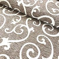 Ткань для постельного белья бязь, Голд Вензель штрихованный
