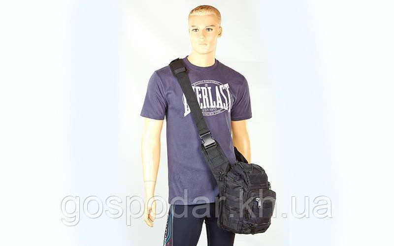 Рюкзак-сумка тактичний штурмової V-20л black (чорний)