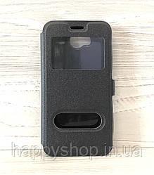 Чехол-книжка с окошком для Huawei Y3 II (LUA-U22) Black