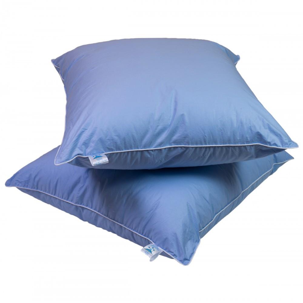 Подушка Лебяжий пух 70 на 70 см. Синий